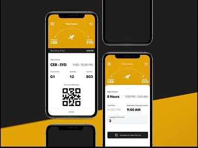 Boarding Pass - Mobile UI Exercise mobile app design dailyui design mobile ui mobile