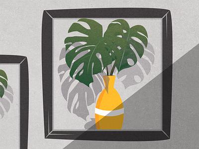 Quarantine tingz graphics minimalism art plants vector illustration design