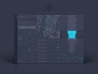 Dark UI Map Dashboard