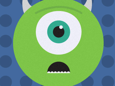 Mike & Sulley illustration design pixar mike sulley characters illustrator retro