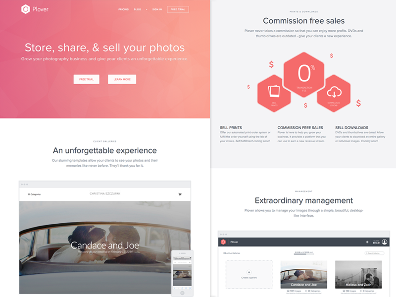 Plover homepage dribbble