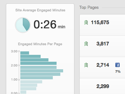 Engaged Minutes graph chart visualization data visualization data realtime real time analytics