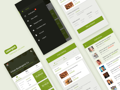 Caterspot (Vendor App Preview) dashboard android ui ux app