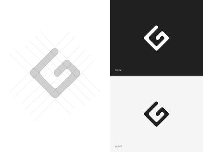 Brand Identity | G Logo lettermark monogram illustraion logo lines construction