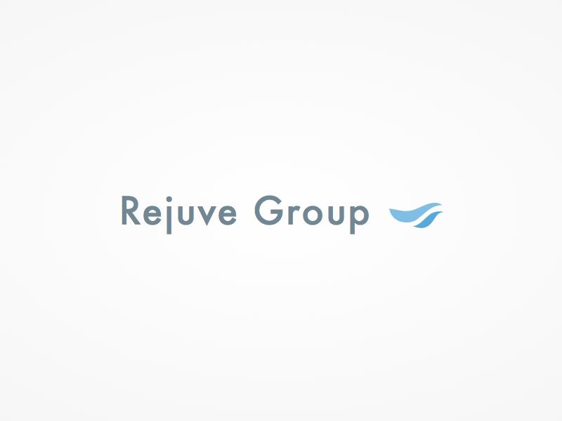 RejuveGroup logo product cosmetic dermal calm flat simple beautiful logo