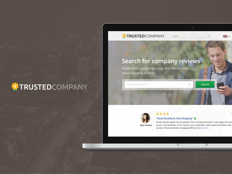 Trustedcompany.com Home page - 2015 web design web ux ui review platform reviews companies trust trustedcompany
