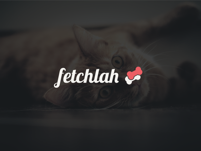 Fetchlah - Logo proposal startup animal dog cat pet identity proposal logo fetch