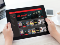 iFlix Dashboard (iPad view)