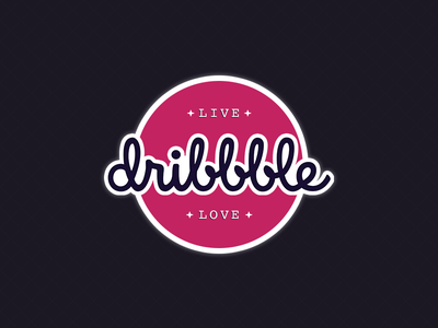 Dribbble Sticker - Live Dribbble Love sticker design love live dribbble