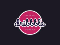 Dribbble Sticker - Live Dribbble Love