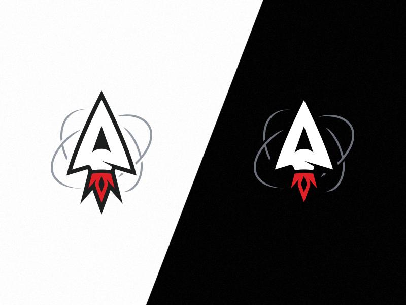 Astral logo trail rocket space symbol logo gaming astral