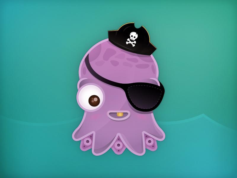 Shot octopus
