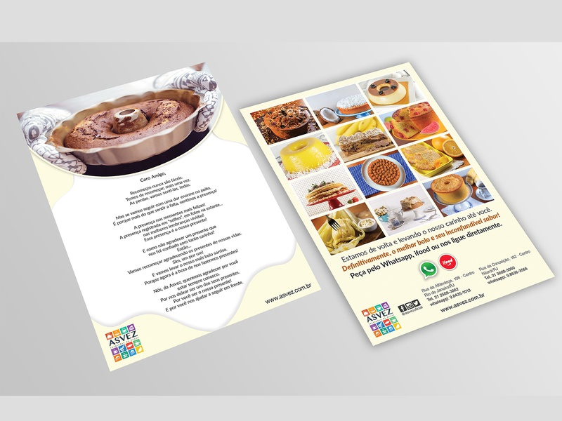 confectionery service flyer