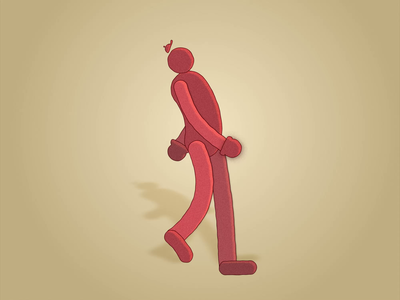big red guy cycle 2d loop hat red bigred adobe design animations illustration digital animation animator motion design aftereffects walk cycle animation 2d animation