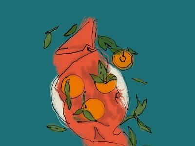 Fruit in a bowl Illustration procreate design illustration