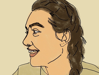 Self Portrait drawing branding design illustration procreate