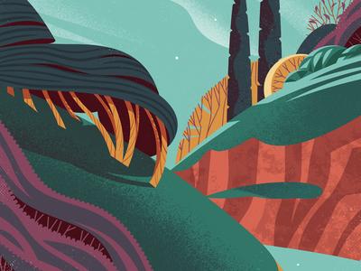 Vector Landscape jasonsolo texture simple landscape vector illustration