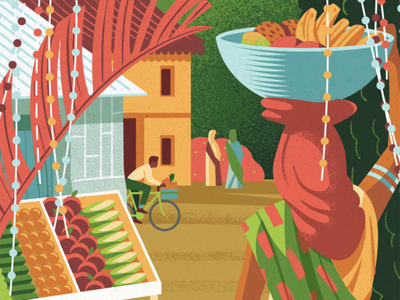 Pacific Standard Magazine simple travel india colour melbourne jasonsolo vector illustration editorial
