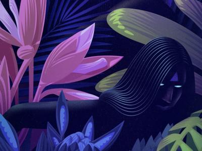 Flora & Fauna melbourne graphic colourful editorial floral design art direction mysterious vector jason solo illustration