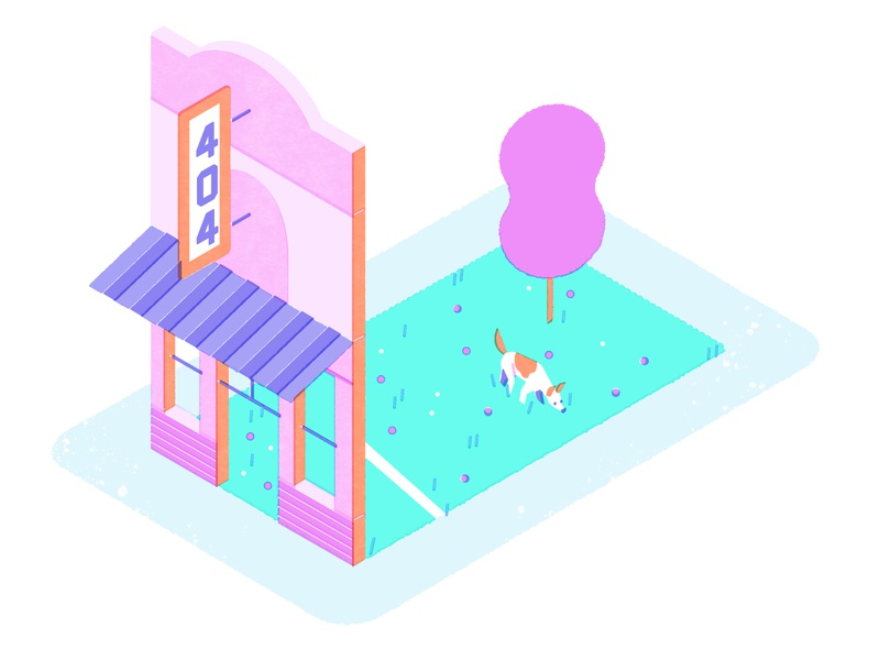 404 Page Not Found web design commerce art direction graphic design branding jasonsolo vector illustration