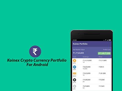 Koinex Crypto Currency Portfolio Tracking app wallet ux ui trading statistics market iphonex ethereum currency crypto bitcoin app