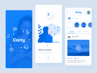 Cacty - Social Music App