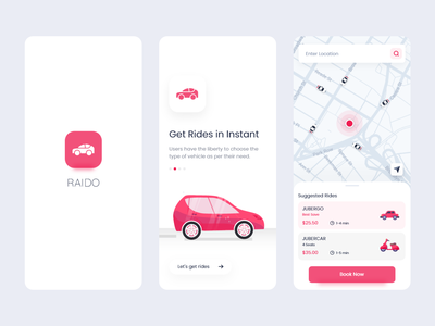 Raido - Ride Sharing App transportation rideshare ride uber car app splash screen app flat shot splash illustration branding redesign design ui