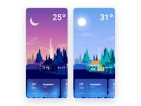 Weather App app shot flat design splash screen illustration branding splash redesign ui