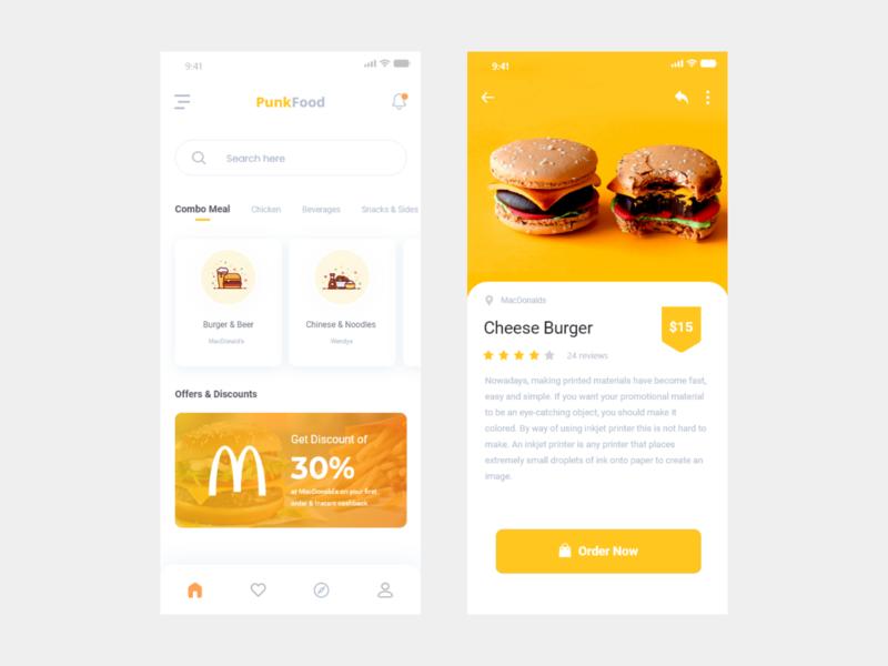 Delivery Food App Concept typography icon redesign flat app illustration splash branding design ui