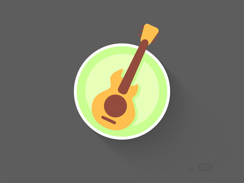 [Sketch Exercise] Icon 160814 Guitar   guitar sketch exercise