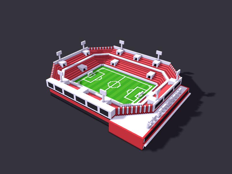 161108_[ Exercise] scene_stadium football field pixel stadium scene