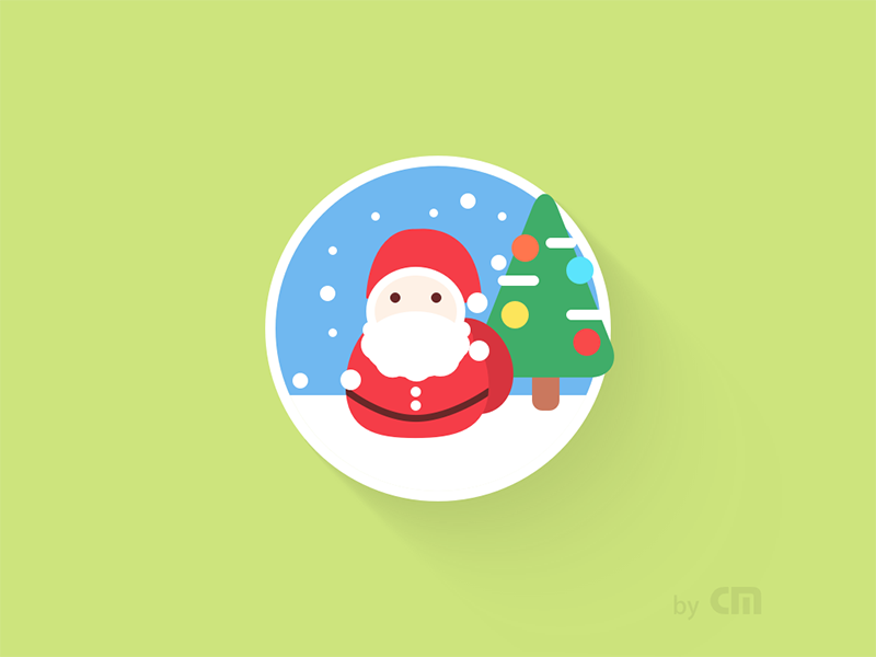 [Sketch Exercise] Icon 161220 Xmas merry christmas santa claus xmas mas