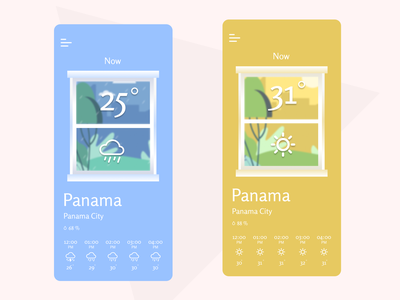 Weather App designs weather design ui mobile app