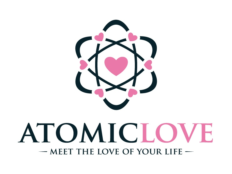 Atomic Love Logo atom logo structura atomic logo atoms brand chemestry corporate creative studio dna education health healthy heart identity lab laboratory logo mark logotype medical medicine molecule nucleus physics professional science logo science love scientific service tech