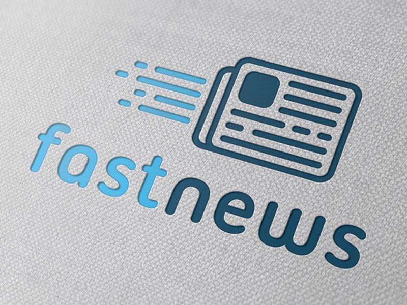 fast news logo by alberto bernabe on dribbble