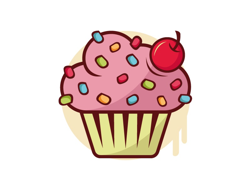 Cupcake Logo By Alberto Bernabe