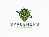 Space Beer Hops Logo Template hand crafted planet hand drawn vintage logo stars creative market space beer branding beer hops freelance logo designer illustration clean design vector branding brand identity logo design creative design stock logo logo template