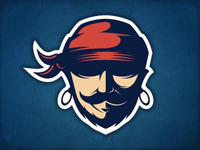Pirate Logo blackbeard human face pirate logo template stock logo logo design piracy skull rugby league marauder buccaneer sport team logo american football