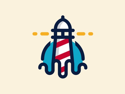 Lighthouse Logo by Alberto Bernabe - Dribbble