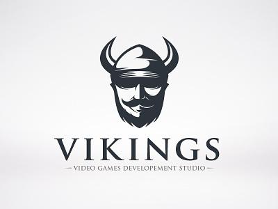 Viking Logo logo valhalla barbarian warrior horns fight mythology guard myth helmet viking vikings