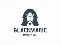 Dark Magician Woman Logo Template beautiful beauty creative market esoteric fantasy fashion fortune teller girl head face woman logo video games freelance logo designer clean design vector branding brand identity logo design creative design logo template