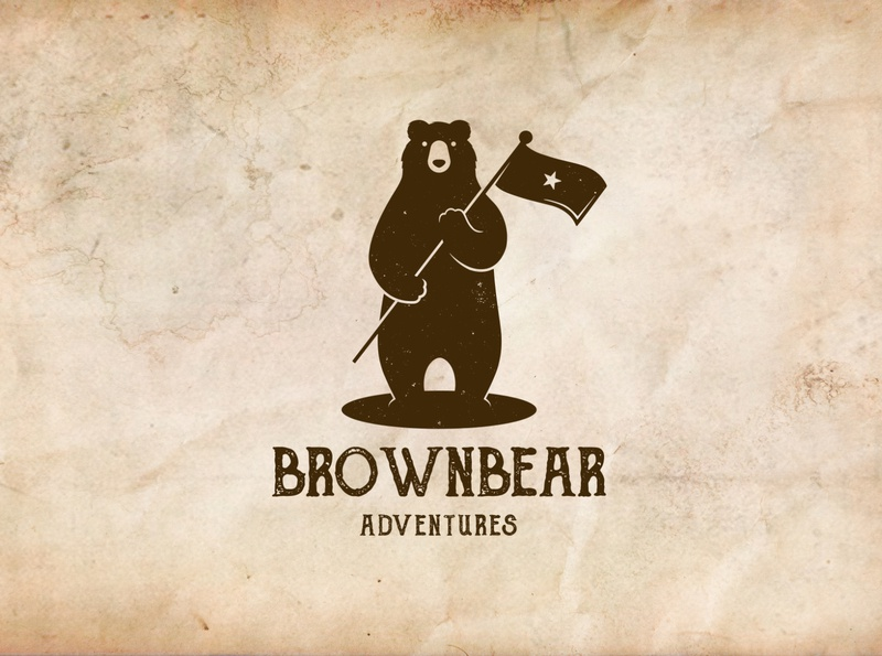 Bear Star Flag Logo Template revolution black bear liberty freedom brown bear animal logo flag grizzly bear wild animal bear distressed retro logo vintage logo logotype vector branding brand identity logo design creative design logo template