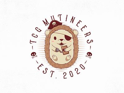 TCG Mutineers Logo character design geek skull pirate games game trading card kawaii cute animal hedgehog illustrative logotype identity freelance logo designer illustration clean design vector creative design branding brand identity logo design