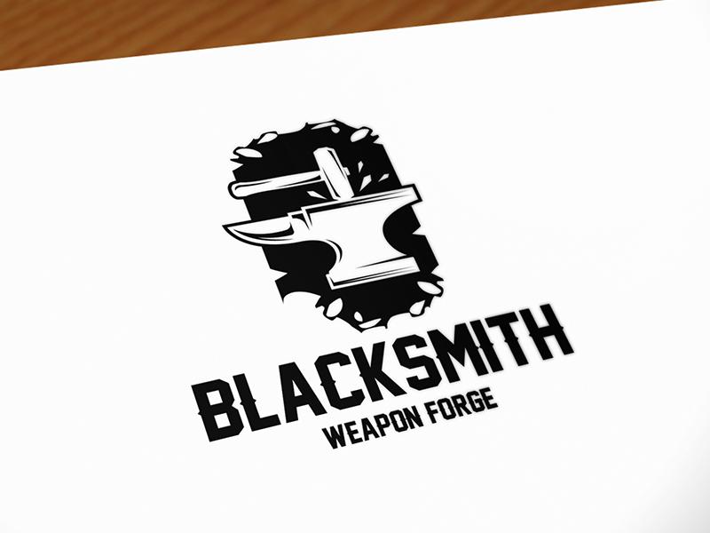 Blacksmith Logo By Alberto Bernabe Dribbble Dribbble