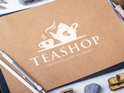 Tea Shop Logo Template