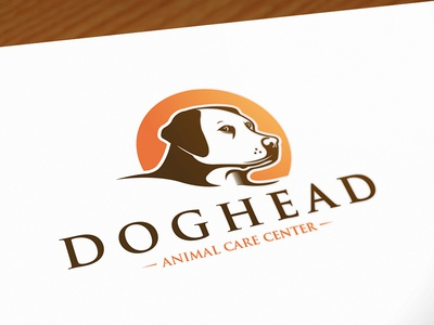 Dog Head Logo Template brand mark identity vector logo design pet hotel labrador retriever pet shop animal care stock logo logo template logo design head dog