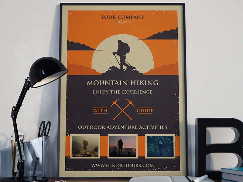 mountain hike flyer template by alberto bernabe dribbble dribbble