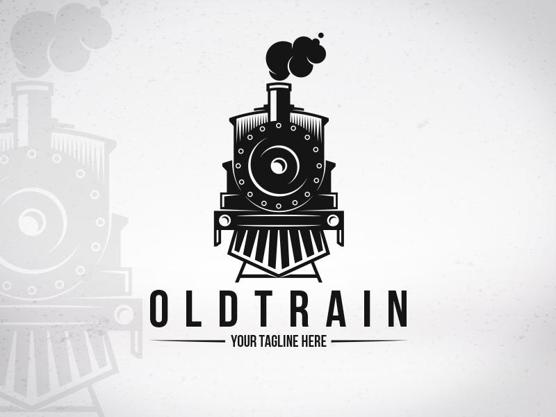 old train logo template by alberto bernabe
