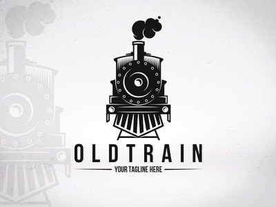 Old Train Logo Template railroad transport station vehicle travel locomotive clean design stock logo logo template vector smoke old train