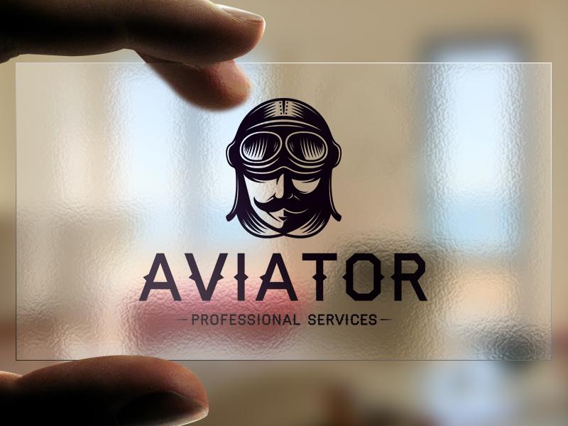 Aviator Head Logo Template Pilot Plane Stock Vector Creative Clean Design Human Hat
